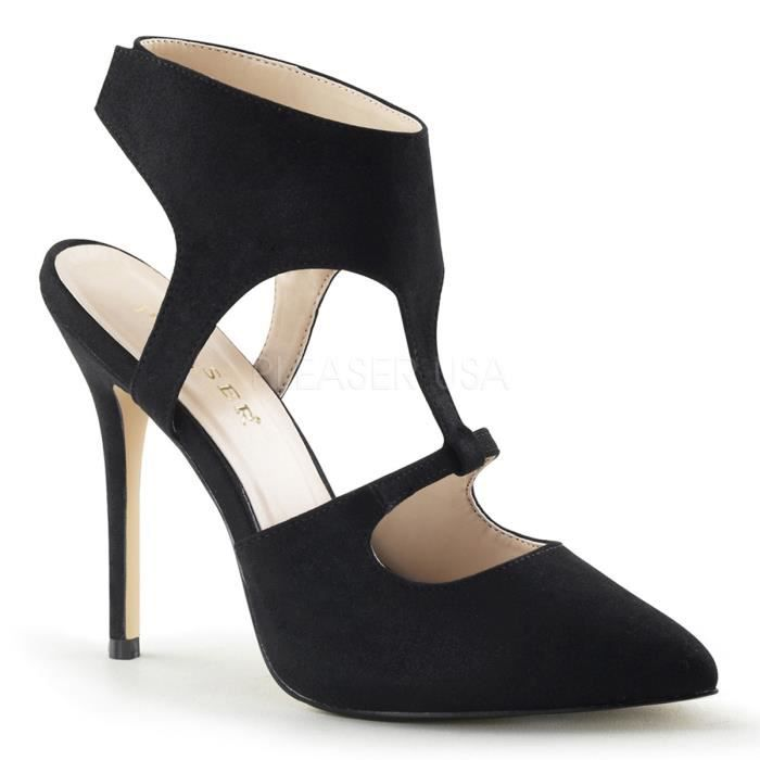 "Pleaser AMUSE-19 5 Inch Heel,3/8"" Hidden PF Sling Back Sandal w Sculpted Cutouts"