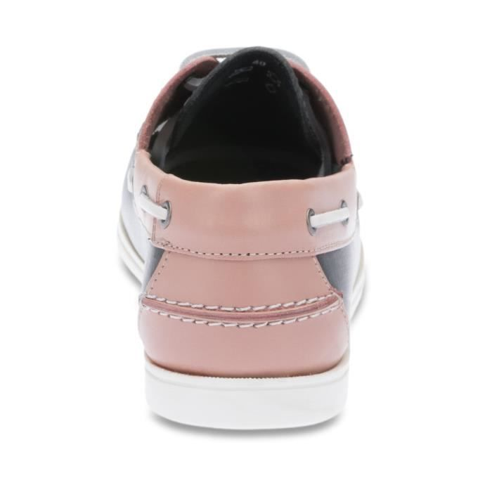 Chaussures Bateaux homme Cuir Soulac Rose