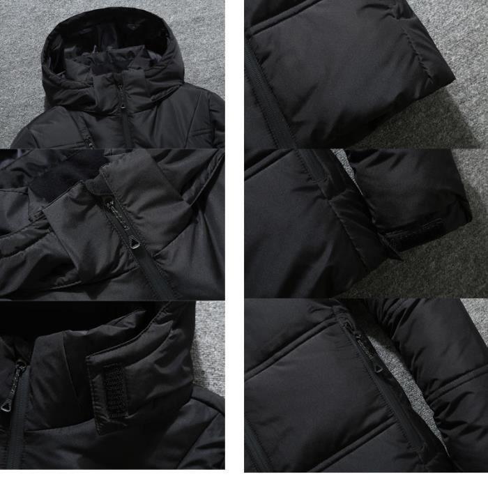 Court Homme Doudoune Air L'hiver Paragraphe Épaisse En Marque Décontractée Plein À Capuche Vêtement Luxe wXXxrdgq