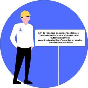 POMPE À CHALEUR Airton prêt à poser climatiseur réversible bi-spli