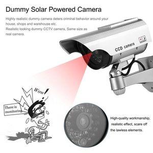 CAMÉRA FACTICE Caméra factice d'extérieur avec LED solaire