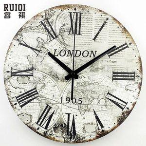 Horloge Murale Out Led 3d Terre Mur Globe Carte Home Decor