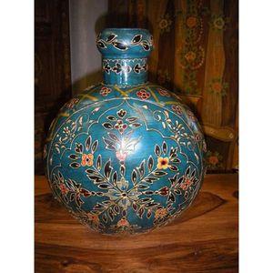 OBJET DÉCORATIF Jarre à eau peinte main turquoise (MM)