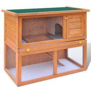 CAGE Magnifique Cage Clapier Exterieur en Bois pour Lap