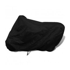BÂCHE DE PROTECTION Housse de protection moto d exterieur noir Polyest 39f7a6f1b50a