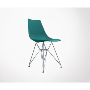 CHAISE Chaise Design LYA Style Scandinave Pied Mtal Eiff