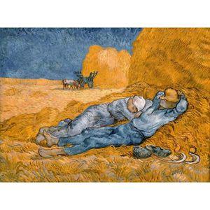 TABLEAU - TOILE Tableau La sieste Vincent van Gogh 75 x 55 cm