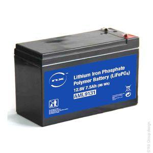 BATTERIE DOMOTIQUE NX - Batterie lithium fer phosphate 12V 7.5Ah T1