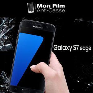 FILM PROTECT. TÉLÉPHONE Verre trempé pour Samsung S7 Edge