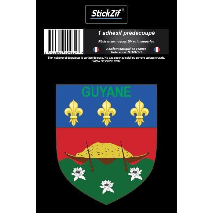 STICKZIF 1 Adhésif Blason Guyane STR973B