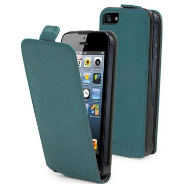 MUVIT Etui Slim Python Turquoise Made In Paris Iphone 5-5s-Se