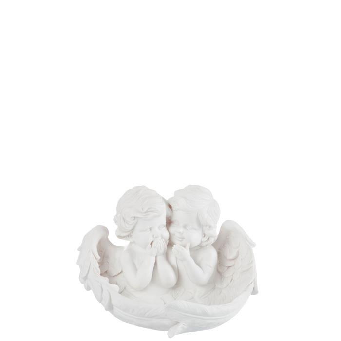 ANGES Figurine déco Résine 26x21x18 cm Blanc