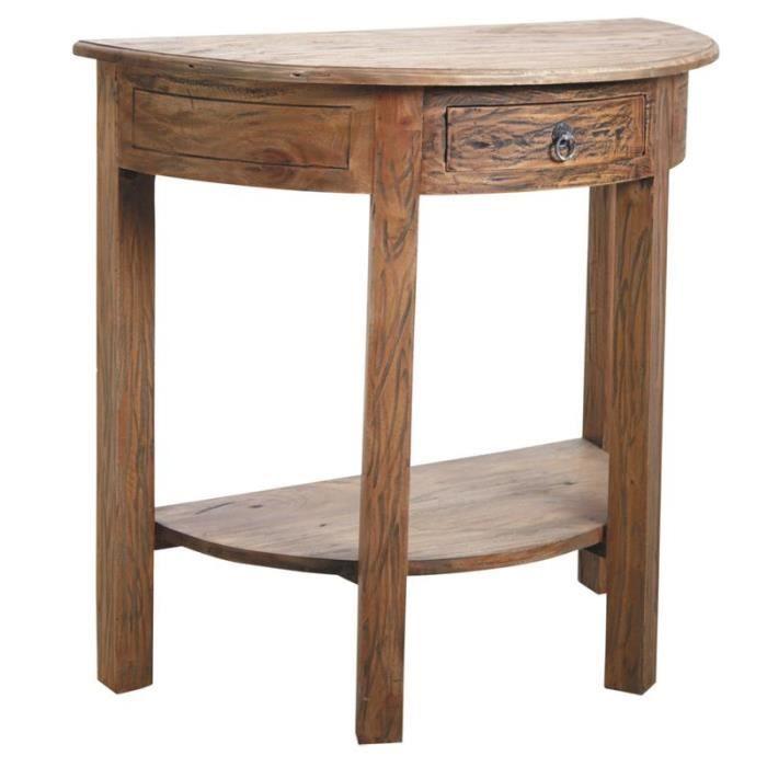 console demi lune en bois naturel achat vente console extensible console demi lune en bois n. Black Bedroom Furniture Sets. Home Design Ideas