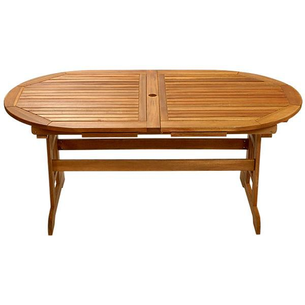 Table de jardin en bois exotique FSC avec allon… - Achat ...