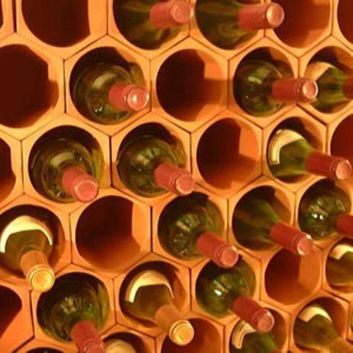 paquet de cellules de casier vin en terre cuite de 50. Black Bedroom Furniture Sets. Home Design Ideas