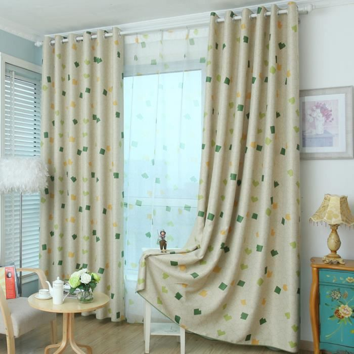 Rideaux occultants chambre enfant d coration rideau 100 for Decoration maison rideaux fenetre