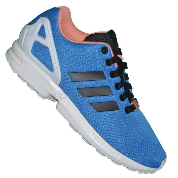 Adidas - Basket Running - Femme - Zx Flux 02 B34501 - Bleu Royal Saumon 4fqIP0cD