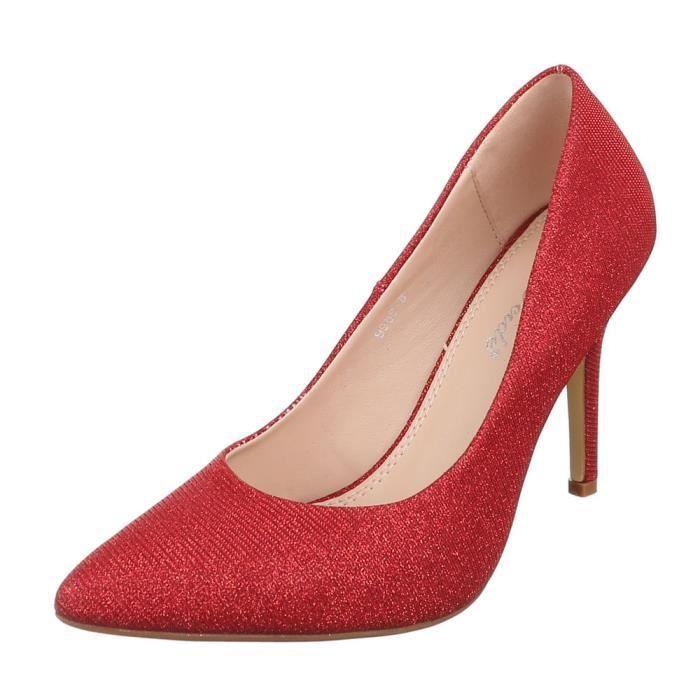 femme escarpin chaussuretalons aiguilles talon hautChaussures de soiréeClubsoirée rouge