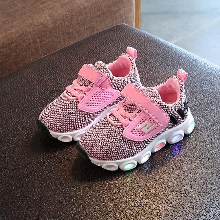 chaussures LED pour enfants les enfants ont conduit lumières baskets pour filles Bébé 3ua5FG