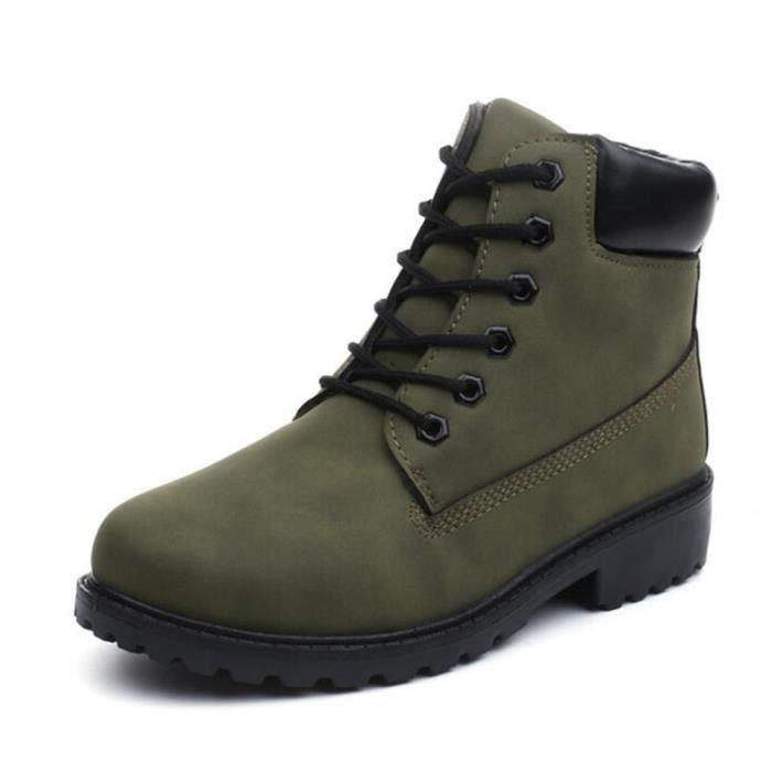 CUSSELEN homme Bottine 2018 Nouvelle mode Hommes bottes militaires homme Bottine de securite de léger version Adulte