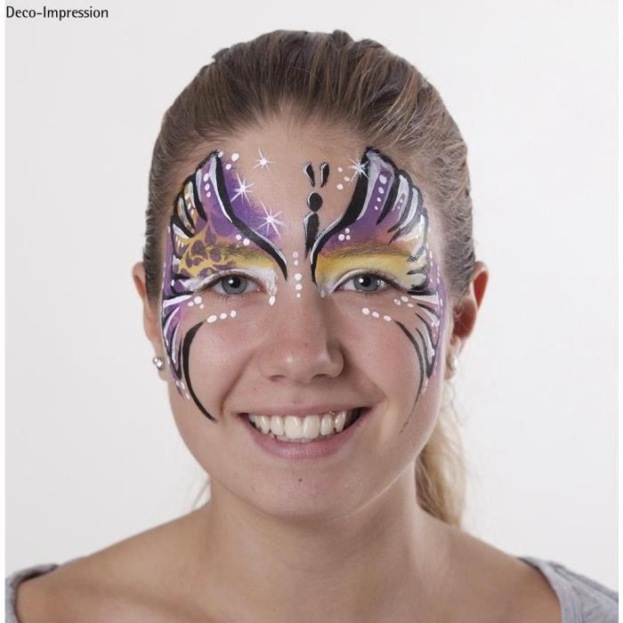 pochoir de maquillage papillon paint me achat vente maquillage cdiscount. Black Bedroom Furniture Sets. Home Design Ideas