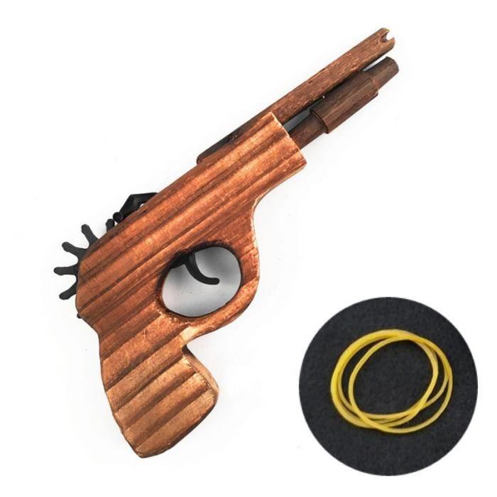 Pistolet en bois lastiques lance pierres lanceur - Jeux de lance pierre ...