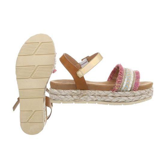 best service ba55a e1898 Multi Tongs Rosa Sandales 36 De Chaussures Femme D été Sandale aYw55qOUx