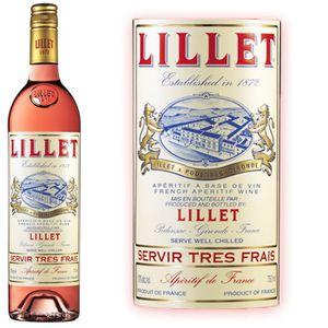Apéritif à base de vin Lillet Rosé 17° 75 cl