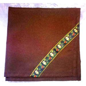 serviette de table marron achat vente serviette de table marron pas cher cdiscount. Black Bedroom Furniture Sets. Home Design Ideas