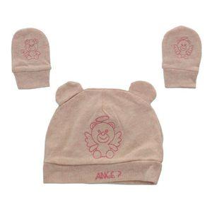 Baby Love - Lot bonnet + moufles naissance tigre pour bébé Jaune ... dc9edb9ae31
