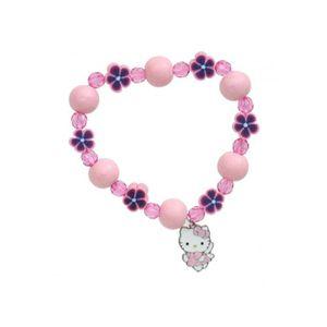 BRACELET - GOURMETTE Bracelet Fille HELLO KITTY Acier, Perles en Boi…
