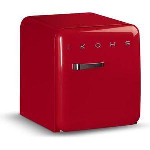 RÉFRIGÉRATEUR CLASSIQUE IKOHS Réfrigerateur Rouge Vintage RETRO 50 48L 39d