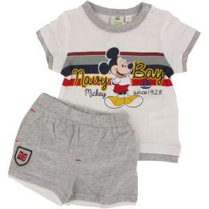 4b55ff32277 Ensemble de vêtements Ensemble T-shirt et short Mickey pour Bébé