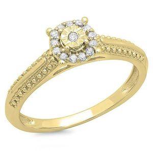 BAGUE - ANNEAU Bague Femme Diamants 0.12 ct  10 ct 471-1000 Or Ja