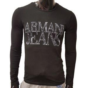 T-SHIRT T-Shirt Armani Jeans Manches longues pour hommes.