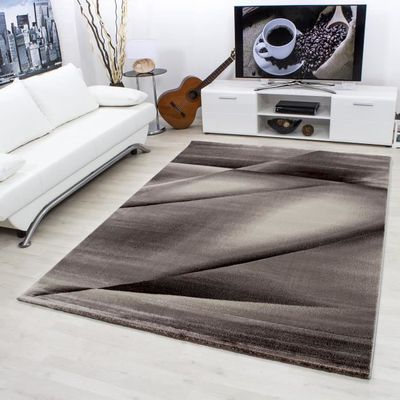 Tapis de salon design moderne, mélange à carreaux court et ...