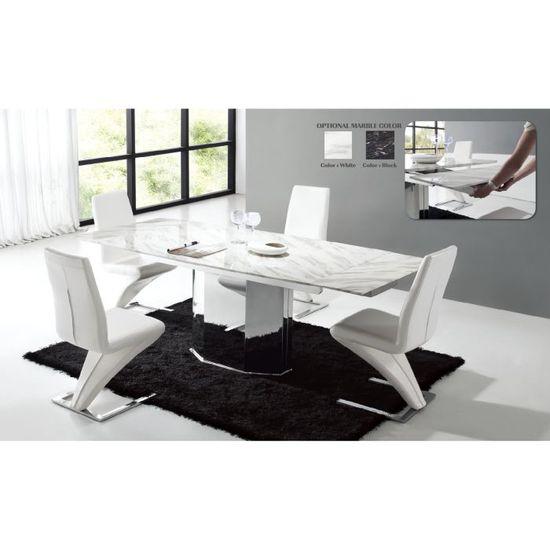 Table de salle à manger en marbre avec allonge … - Achat / Vente ...