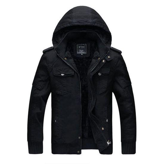 Noir Veste Automne Outwear Trench Pardessus Long Slim Zipper Hiver Coat Hommes Caps BPwSB