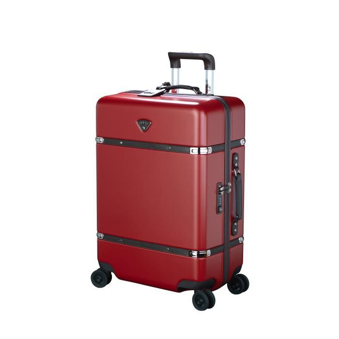 JUMP Valise Cabine Trolley Rigide polycarbonate CASSIS - 4 roues - 75 cm - Rouge