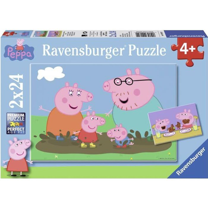 PEPPA PIG Puzzle Vie famille 2x24 pcs