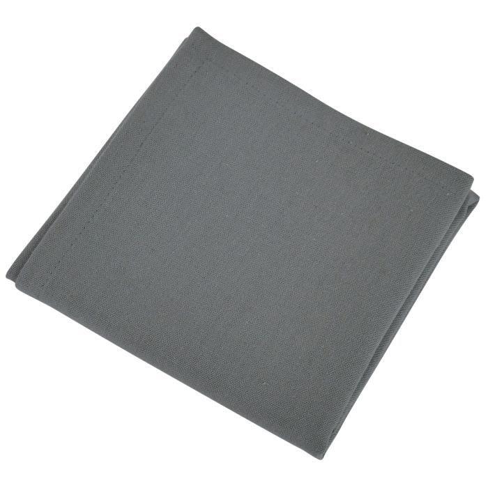 VENT DU SUD Lot de 12 serviettes de table YUCO - Gris Gris anthracite