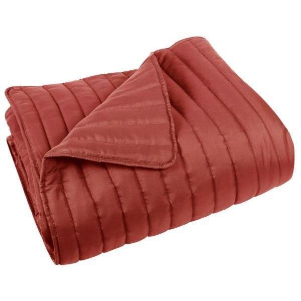 couvre lit microfibre 220x240 cm madison couleur marsala achat vente jet e de lit boutis. Black Bedroom Furniture Sets. Home Design Ideas