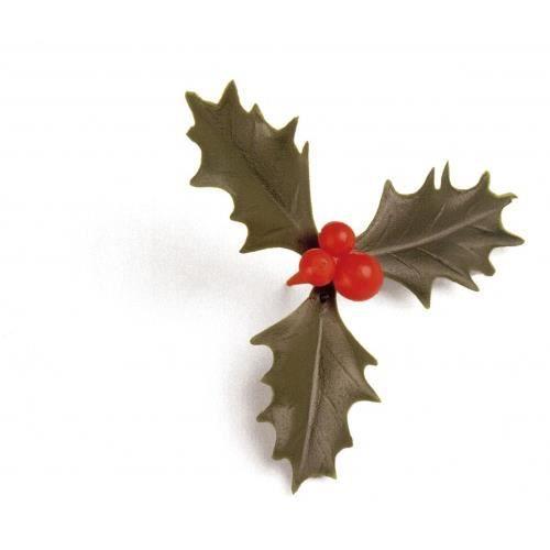 100 feuilles de houx triple vert decoration noel achat vente ustensiles decoration 100 - Decoration de noel avec du houx ...