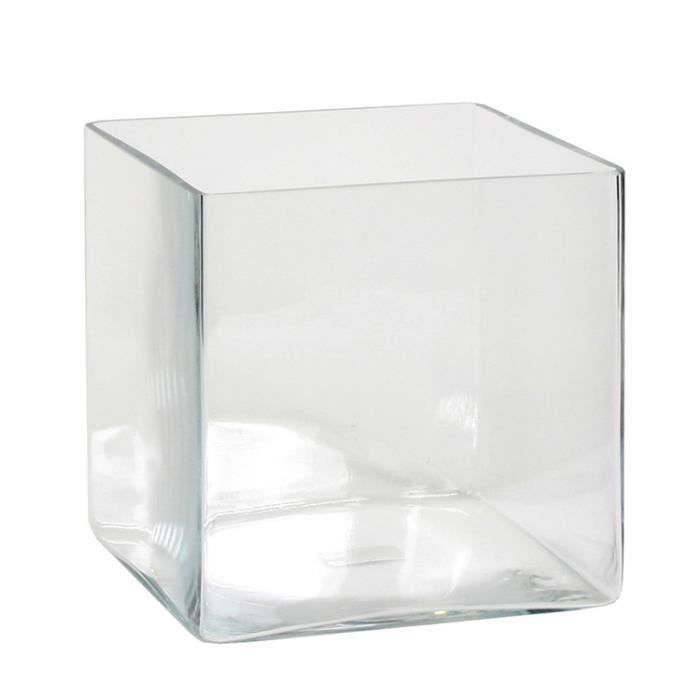 vase carre en verre achat vente vase carre en verre. Black Bedroom Furniture Sets. Home Design Ideas