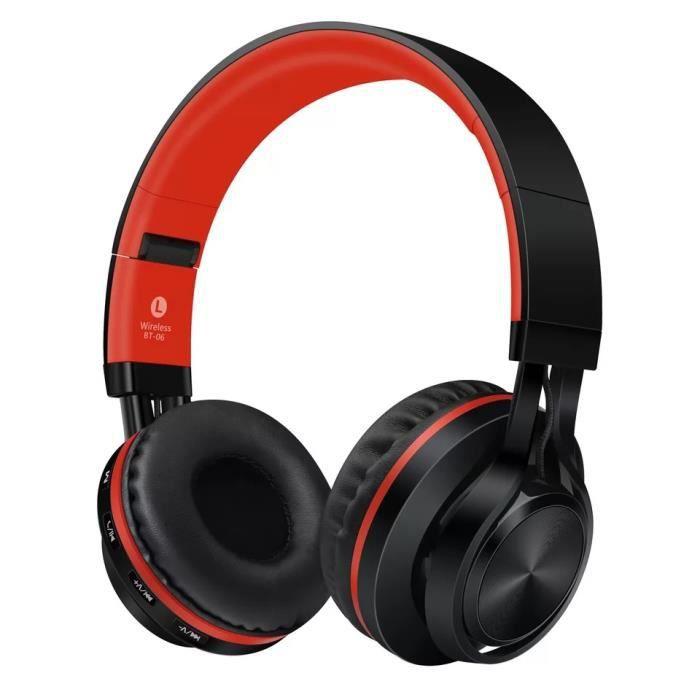 4 En 1 Stéréo Casque Bluetooth Sans Fil Écouteur Sport Audio Filaire Wireless Headphones Microphone Fm Radio /tf Carte Mp3