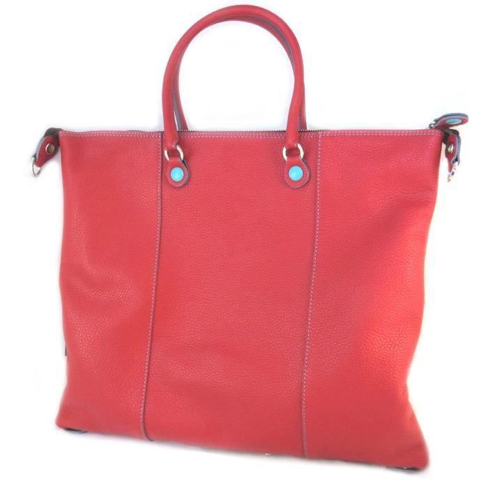 Sac cuir 3 en 1 Gabs rouge (L) - 43x37x2.5 cm [P1582]
