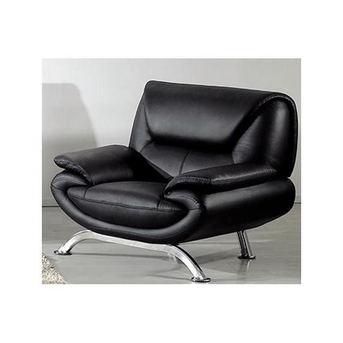Fauteuil 1 place en cuir italien JONAH Achat Vente fauteuil