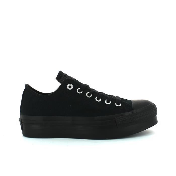 Ox Toile Basket Noir Achat Converse Basse Plateforme xCorBed