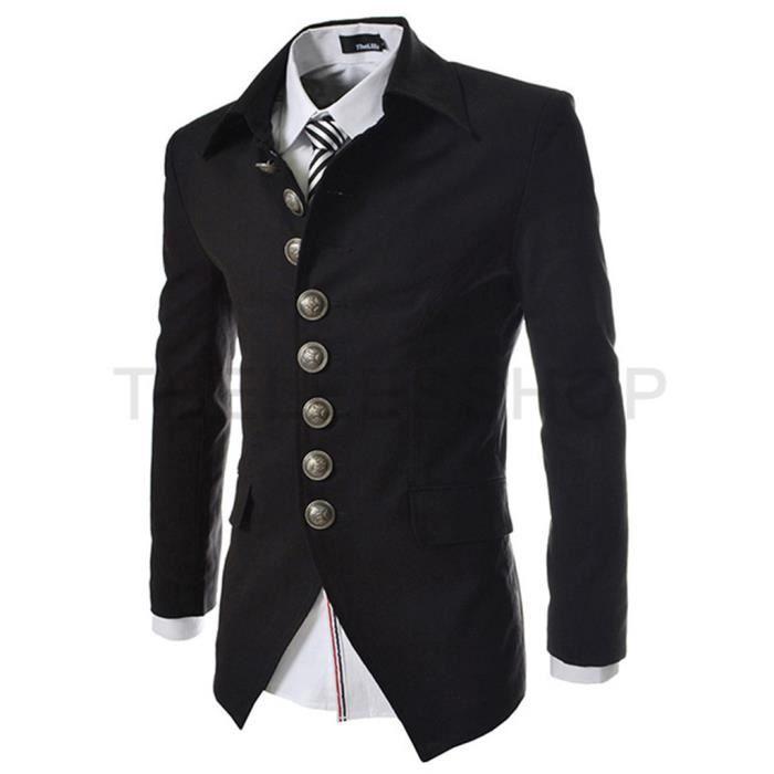 veste de costume homme slim noir noir achat vente costume tailleur cdiscount. Black Bedroom Furniture Sets. Home Design Ideas