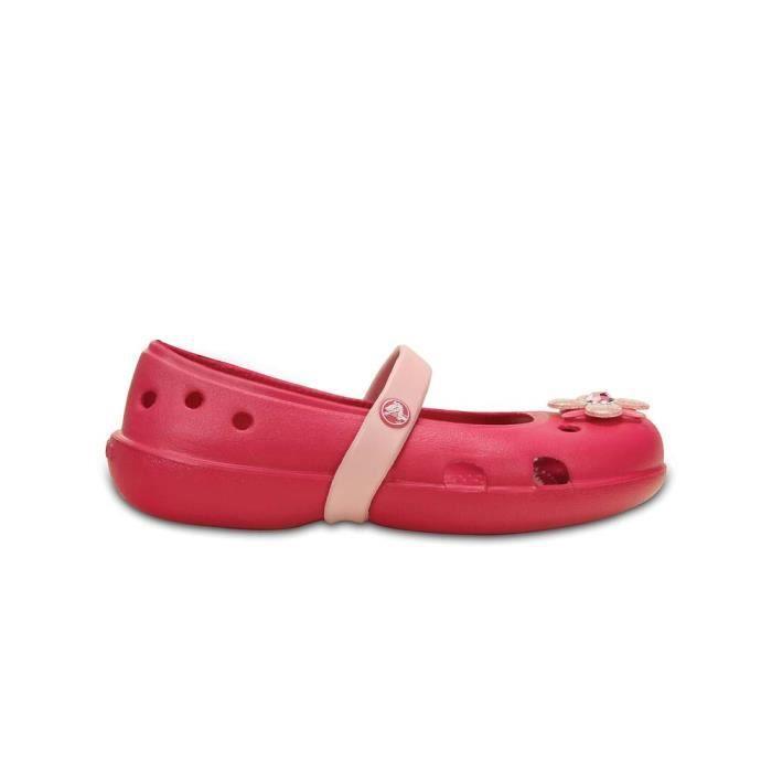 3c69a27c55de9 Chaussures enfant Clogs Crocs Keeley Springtime Flat Ps Rouge Rouge ...